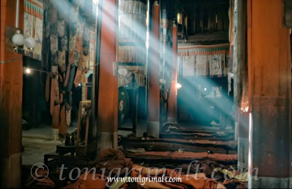 Interior templo Tibetano